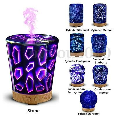 3D Night Lighting Ultrasonic Essential Oil Diffuser Mist Humidifier Aromatherapy