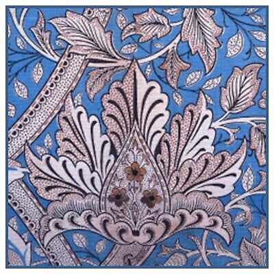 Windrush detail 2 in Mauves by William Morris Counted Cross Stitch Pattern