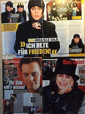 4 german clipping HIM VILLE VALO N. SHIRTLESS ROCK BOY BAND BOYS GROUP SINGER