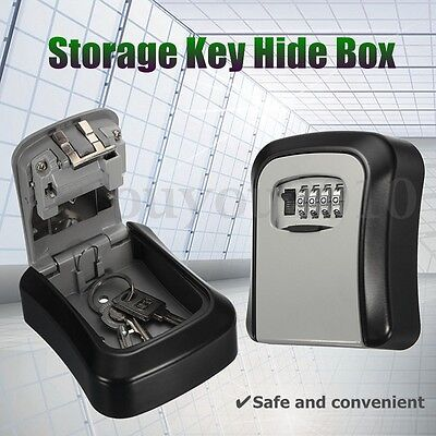 Hide Key Box Home Safe Security Storage Kit Combination Lock Lockout Holder Car