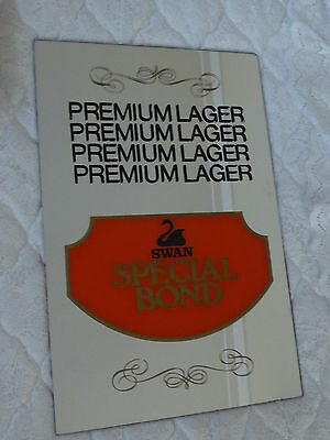 Swan Brewery Bar Mirror Special Bond Premium Larger RARE
