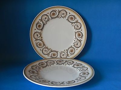 TWO SUSIE COOPER VENETIA C2039 210mm PLATES GOOD CONDITION