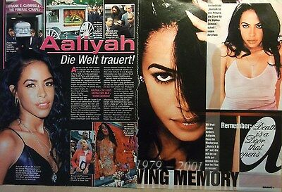2 german clipping AALIYAH N. SHIRTLESS SINGER GIRL SOUL BOY BAND BOYS GROUP RIP
