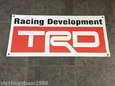 TRD Racing Development banner sign Toyota drifting off-road baja motorsports