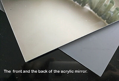 Acrylic Mirror Sheet Perspex Plastic Panel 3mm thick A2 (594 x 420mm)