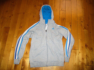 ADIDAS Boys's 15 - 16 Years Men's Small HOODIE Zippered TRACK suit SPRING JACKET