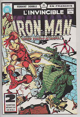IRON MAN #113/114 french comic français EDITIONS HERITAGE