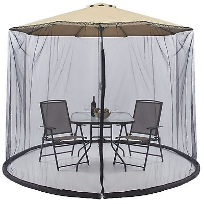 Umbrella Table Screen Enclosure Net Cover Keep Bugs Mosquitoes Out Patio Picnic