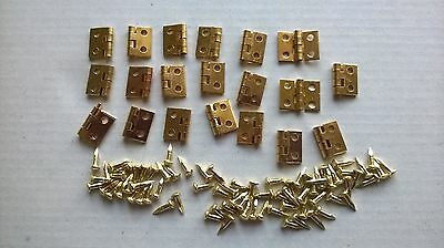Hinges x 20 small DOLLS HOUSE MINIATURES (F1061)