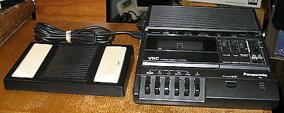 Panasonic RR-830 Standard Cassette Medical Dictation Recorder w/Foot Pedal