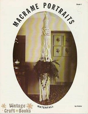 Macrame Portraits Book 1 Vintage Pattern Instructions Tons of Plant Hangers NEW