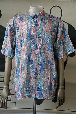 THAI-Silk Seidenhemd Herrenhemd Hemd Seide 90er True VINTAGE 90´s men shirt silk