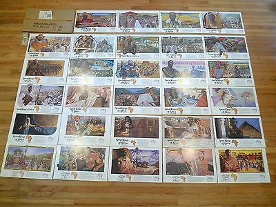 "Great kings of Africa budweiser print lot of 29 w/ Mailer Set RARE !!! 12"" X 20"""