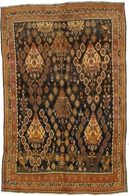 Unique Design Handmade Semi Antique Shiraz Persian Rug Oriental Area Carpet 6X10