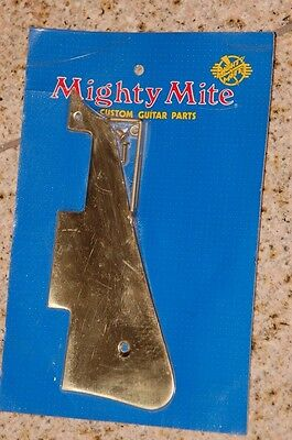Gibson-Les-Paul-Style Pickguard Gold/Brass/Messing! Mighty Mite made in USA 1978
