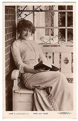Real Photo Postcard Miss Lily Elsie-Actress & Singer-Reading Book 11790 A-1912