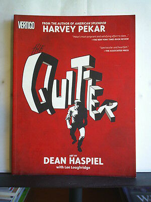 GRAPHIC NOVEL: THE QUITTER by HARVEY PEKAR  Paperback 2005 2nd print
