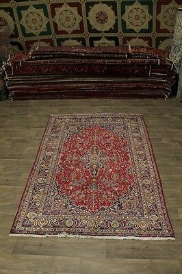 Hot Deal S Antique Hand Knotted Mashad Persian Rug Oriental Area Carpet 6X10