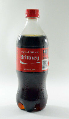 Share a Coke with Brittney 20 fl oz Collectible Bottle Rare Unopened Coca-Cola