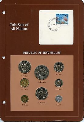 Seychelles 1977 - 1982 Coin Sets of All Nations 8 Coin Set - MM636