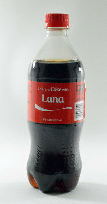 Share a Coke with Lana 20 fl oz Collectible Bottle Rare Unopened Coca-Cola