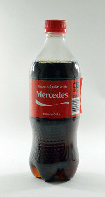 Share a Coke with Mercedes 20 fl oz Collectible Bottle Rare Unopened Coca-Cola