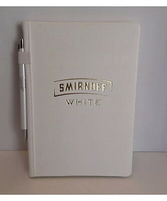 NEW Smirnoff Vodka White Journal Notebook Diary & Pen VIP collectible