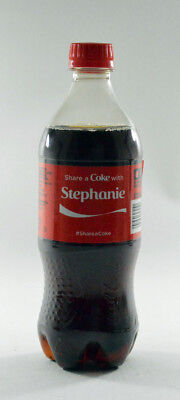 Share a Coke with Stephanie 20 fl oz Collectible Bottle Rare Unopened Coca-Cola