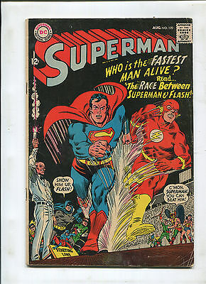 Superman #199 (5.0) 1St Superman Vs. Flash Race! Key