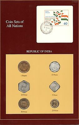 {BJSTAMPS} Coin Sets of All Nations Republic of India 1986-1988 BU Red Card
