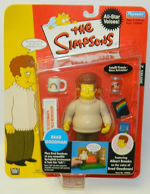 The Simpsons Brad Goodman Action Figure with Voice Playmates 2002 NEW SEALED