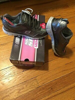 Women's Sketchers Shoes Size 8.5 Gun Metal Gray - Brand New!