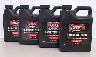 Lot of Four (4) Gumout Professional Radiator Flush 16oz USA #5070708