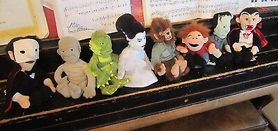 Universal Monsters Complete set of 8 bean bag plush toys NEW WITH TAGS Stuffins