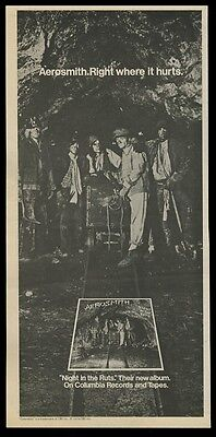 1979 Aerosmith band as miners photo Night in the Ruts album release print ad