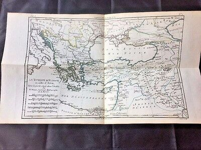1780 TURKEY ARMENIA Map by ROBERT BONNE, MEDITERRANEAN ASIA Color