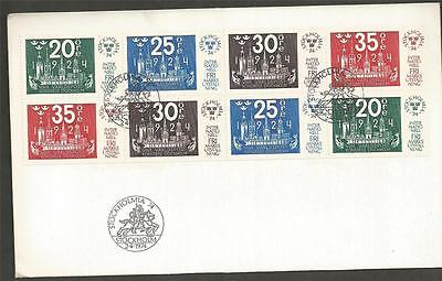 SWEDEN - 1974 Stockholmia 74  - BLOCK OF 8  - FIRST DAY COVER