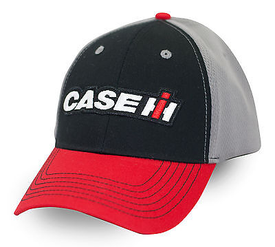 CASE IH *BLACK RED & GREY Performance Mesh Trademark Logo HAT CAP *NEW* CIH96