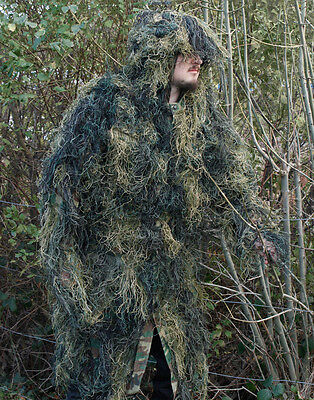 Military Anti-Feuer GHILLIE ANZUG-PARKA Armee Wald Tarnfarbe Camouflage
