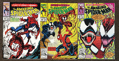 Amazing Spider-Man # 361 362 363 1st Appearance of Carnage NM Marvel