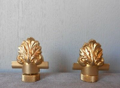 Pair of  vintage French Solid Brass STYLISH FINIALS