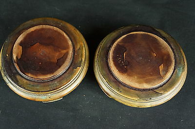 """Great Vintage / antique chinese pair of wood stands, 4 1/2""""  [Y7-W6-A9]"""