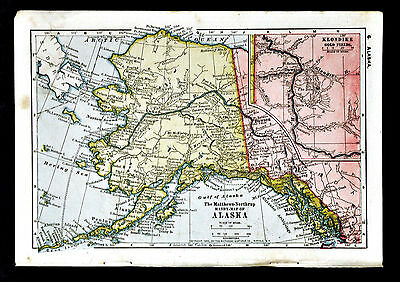 1900 Mathews-Northrup Map - Alaska - Klondike Gold Fields Yukon Dawson Canada