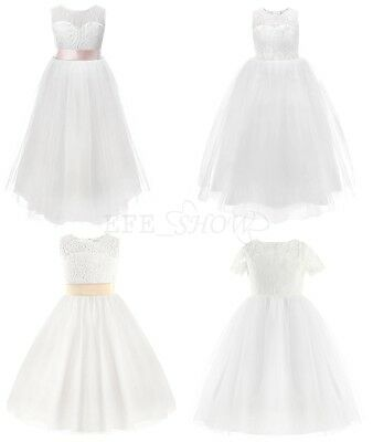 Girls Bridesmaid Kids Princess Wedding Communion Party Recital Flower Girl Dress