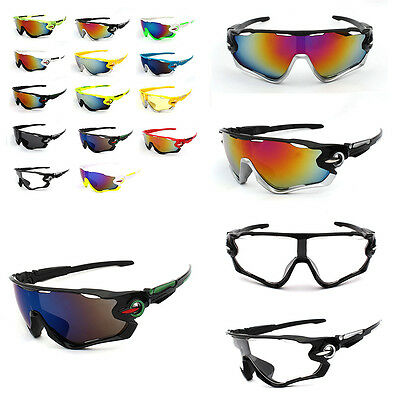 Men Sports Cycling Riding Bicycle Bike Sports Sun Glasses Eyewear Goggles Lens