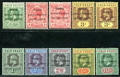 TOGO 1915 7-11 * etc ANGLO-FRENCH OCCUPATION 150€(A9526