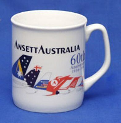 ANSETT AUSTRALIA COFFEE MUGS  - 60th Anniversary x 2