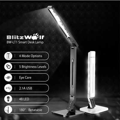 BlitzWolf LED Smart Rotatable Dimmable Eye Care Protection Lamp Desk Lamp New