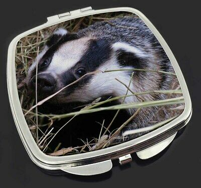 Badger in Straw Make-Up Compact Mirror Stocking Filler Gift, ABA-1CM