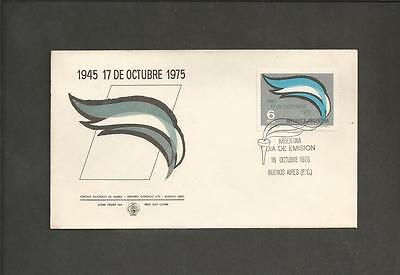 ARGENTINA -1975  30th Anniversary of  Seizure of Power by President Peron - FDC